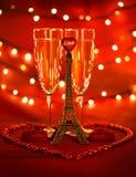 Bebida do dia de são valentim Imagens de Stock Royalty Free