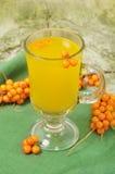 Bebida do mar-espinheiro cerval do fruto Foto de Stock