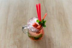 Bebida do melão no vidro Imagem de Stock Royalty Free