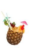 Bebida do suco de abacaxi imagens de stock royalty free