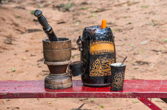 bebida do Terere-companheiro de Paraguai imagens de stock royalty free