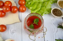 Bebida do tomate Foto de Stock Royalty Free