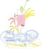 Bebida do verão ilustração royalty free