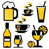 bebida dos ícones Fotos de Stock Royalty Free