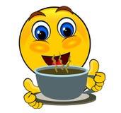 Bebida dos emoticons do sorriso Imagem de Stock Royalty Free