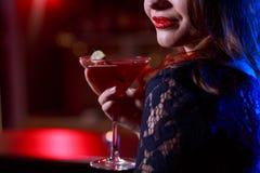 Bebida dulce roja fotografía de archivo