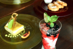 Bebida e alimento fotografia de stock
