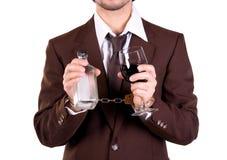 Bebida e cadeia Foto de Stock Royalty Free