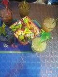 Bebida e doce imagem de stock
