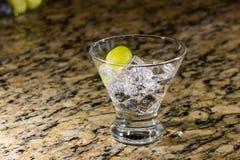 Bebida efervescente no gelo com fruto Foto de Stock