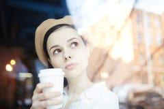 Bebida en café Fotografía de archivo