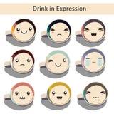 Bebida en la expresión Fotos de archivo libres de regalías