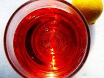 Bebida en la nieve Imagen de archivo libre de regalías