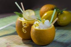 Bebida en naranja Imagen de archivo