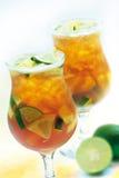 Bebida enfriada de la cal Imagen de archivo libre de regalías