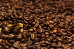 Bebida excelente aromática dos feijões de café na manhã imagem de stock