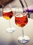 Bebida fría del spritzer Imagen de archivo