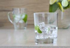 Bebida fresca com gelo Foto de Stock