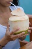 Bebida fresca da água potável quente Imagem de Stock Royalty Free