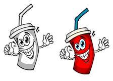 Bebida fresca da soda com palha Imagens de Stock