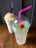 Bebida fresca de la soda de la burbuja foto de archivo