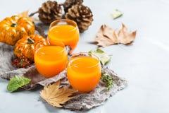 Bebida fresca do cocktail da bebida do suco do outono da abóbora da ação de graças Fotografia de Stock Royalty Free