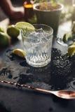 Bebida fresca na tabela Foto de Stock Royalty Free