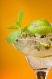 Bebida fria da hortelã do cal Foto de Stock