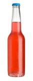 Bebida fria vermelha no frasco Imagem de Stock