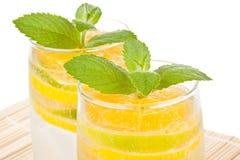 Bebida fruity do verão com gelo imagem de stock