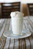 Bebida hecha del yogur y del agua Foto de archivo libre de regalías