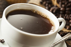 Bebida hecha en casa caliente del café sólo imágenes de archivo libres de regalías