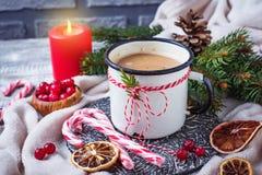 Bebida hecha en casa del chocolate caliente o del cacao Imagenes de archivo