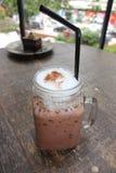 Bebida helada del chocolate Imagenes de archivo