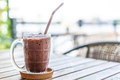 bebida helada del chocolate imagen de archivo libre de regalías