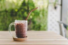bebida helada del chocolate imagen de archivo