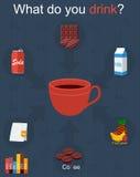 Bebida infographic ilustração stock