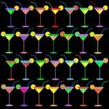 Bebida líquida de cristal del alcohol del vector de Martini Imágenes de archivo libres de regalías