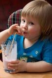 Bebida lechosa foto de archivo libre de regalías