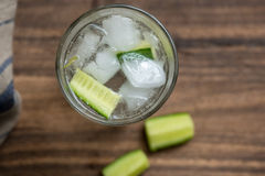 Bebida longa de Gin Tonic imagens de stock