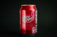 Bebida macia da cola do Dr. Pepper Imagem de Stock Royalty Free