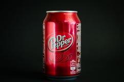 Bebida macia da cola do Dr. Pepper imagem de stock royalty free