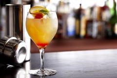 Bebida mezclada colorida Fotografía de archivo libre de regalías