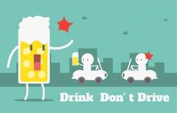 A bebida não conduz Fotografia de Stock Royalty Free