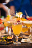 Bebida na tabela Foto de Stock Royalty Free