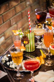 Bebida na tabela Imagens de Stock