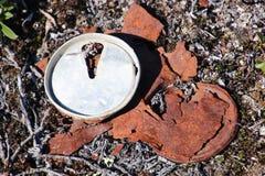 A bebida oxidada pode imagem de stock royalty free