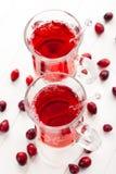 Bebida quente com airelas Fotografia de Stock