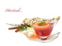 Bebida quente do inverno imagem de stock