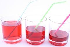 Bebida roja Imágenes de archivo libres de regalías